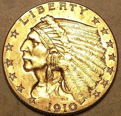 1910 $2.50 Gold Indian Head