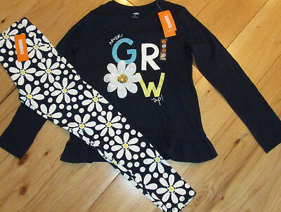 Gymboree Flower Shower never grow up tunic top & daisy leggings NWT 12