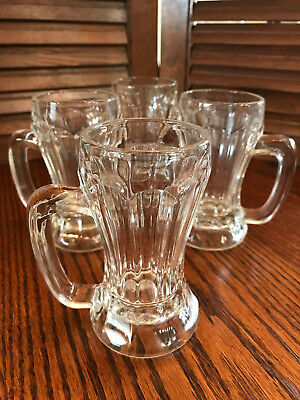 Rare 1800's Soda Fountain Glass  Set of (4)