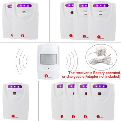 1byone Driveway Alert Wireless Motion Sensor Home Alarm System 328ft LED Flash