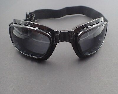 Vintage Aviator Goggles Steampunk Cafe Racer, Harley Davidson Motorcycle Goggles