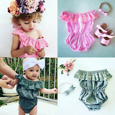 Newborn Infant Baby Girl Floral Romper Jumpsuit Bodysuit Clothes Outfits Sunsuit