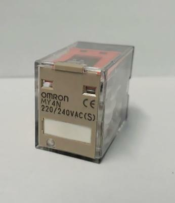 New Omron My4N Power Relay 4Pdt 220/240 Vac Coil 14 Pins              Usa Seller
