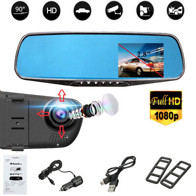 2.8 Inch LCD HD 1080P Video Recorder Dash Cam Rearview Mirror Car Camera DVR 5V