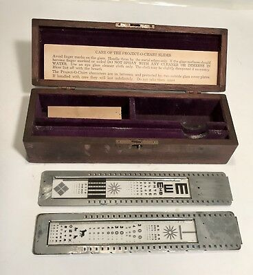Vintage Project - O - Chart Slides For Ophthalmic Projector With Box Excellent