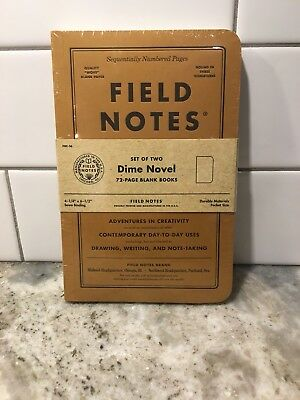 Field Notes Dime Novel Special Edition Blank Memo Books 2-Pack NEW