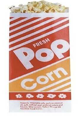 """Gold Medal Popcorn Bags 1 Oz 1,000 Ct 3.5"""" x 2.25"""" x 8"""" Great For Small Servings"""
