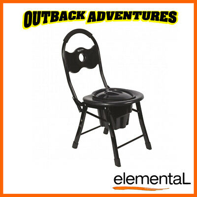 Elemental Portable Folding Toilet Seat Chair Camp Camping Free Postage