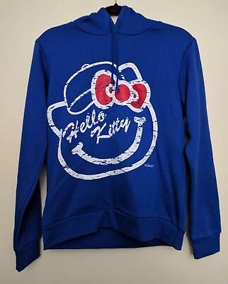 Hello Kitty Sports Blue Hoodie Women's Large Los Angeles LA Dodgers Baseball