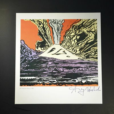 "Andy Warhol, ""Vesuvius"", Signed Print from VIP Book. Hand signed by Warhol, COA."