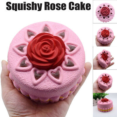 Squishy Super Soft Slow Rising Squishy Cake with Rose Free Shipping FromNJ