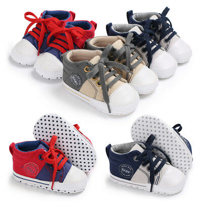 Soft Sole Newborn Baby Boy Pram Shoes Casual Shoes Toddler Pre Walking Trainers