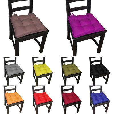 6X New Removable Thicker Cushions Chair Seat Pad Dining Bed Room Garden Kitchen