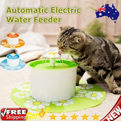 Automatic Electric Pet Water Feeder Flower Bowl Fountain Dog Cat Drink DispensI#