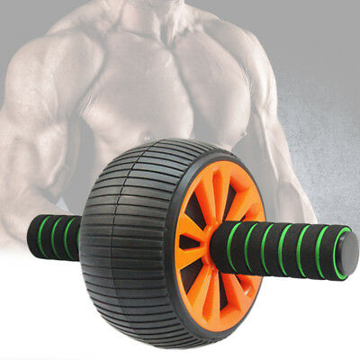Ab Wheel Roller Anti-Slip Abdominal Handles Fitness Abs Gym Exercise Workout