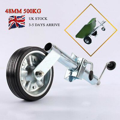 48mm Heavy Duty Jockey Wheel & Clamp  Suitable for Trailers Caravans up to 400KG