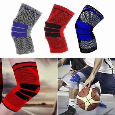 Sports High Compression Silicone Padded Knee Support Sleeve Nylon&Silicon Brace