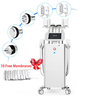 6in1 Double Cooling Cold Handles Cavitation RF Vacuum Body Slimming Machine Spa