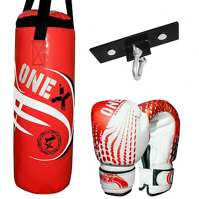 KIDS CHILDS BOXING CHAMPION PUNCH BAG & GLOVES SET EXERCISE - gift toy