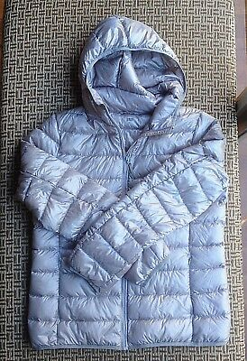 Uni Qlo Womens Down Puffer Jacket Hoodie Size L Excellent Condition