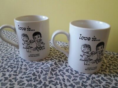 "TAZZA,TAZZONE DA LATTE O THE in porcellana ""Love is"" cm 9*11 cm h idea regalo"