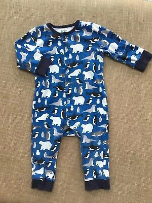 Baby Boden Boys Sleepsuit Baby Grow Snow Animal Patterns 12-18 Months