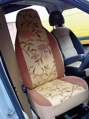 To Fit A Ford Transit Motorhome, 2011, Seat Covers, Peony Vine Mh-198