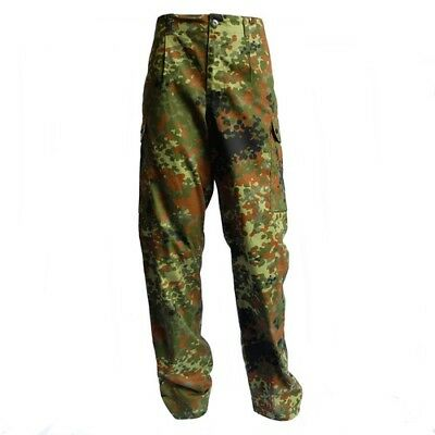 Genuine German Army Issue Flecktarn Trousers - Camouflage Trousers