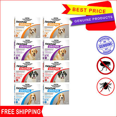 Frontline Original 8 Pipettes (4 Pack X 2) for Dogs All sizes by Merial