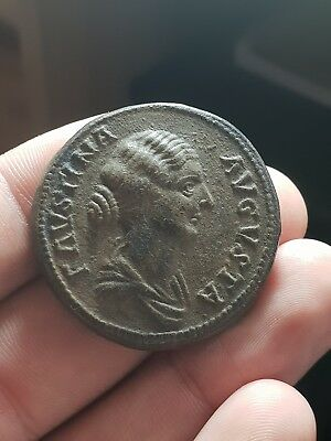 Roman Empire - Faustina Sestertius [Extremely Fine / Very Fine!]
