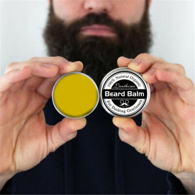 Men Natural Beard Care Beard Balm Moisturizing Moustache Hair Wax Grooming Kit