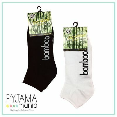 Ladies Boys & Girls 2-8 Ankle Sport Bamboo Socks White or Black