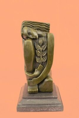 Vintage Style Bronze Nude Woman Abstract Art Sculpture Dali Hand Made European