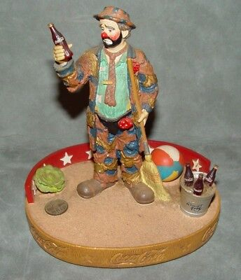 """Emmett Kelly Cocoa Cola Figurine  """"Pause for a Coke"""" First Limited Edition"""