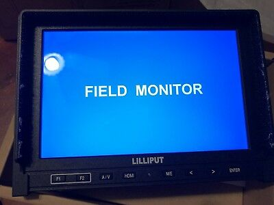 """LILLIPUT 7"""" 339 IPS 1280x800 HDMI input AV in&out on Camera-top Built in Battery"""