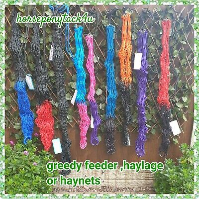 Deluxe Greedy Feeder Hay Or Haylege Nets Extra Strong Small Holes 2 Sizes