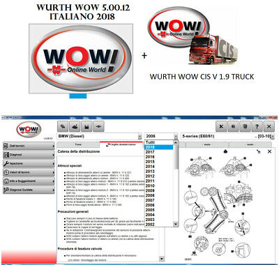 DIAGNOSI AUTO MULTIMARCA PROFESSIONALE WOW 5.0.12 2018 per Auto senza Bluetooth