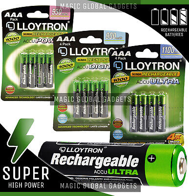 GENUINE LLOYTRON AAA RECHARGEABLE BATTERY SOLAR NiMH HR03 CORDLESS PHONE CAMERA