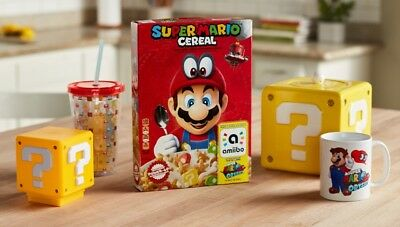 New SUPER MARIO ODYSSEY w/ AMIIBO CEREAL LIMITED EDITION KELLOGG'S NINTENDO