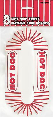 Hot dog trays paper plate retro snacks party food containers treats