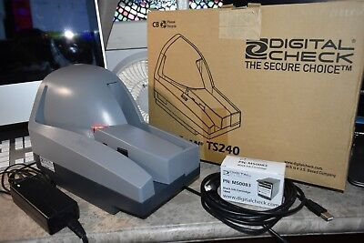 Digital Check TS240 TellerScan 240 Check scanner *TESTED WORKING w/ SEALED INK*