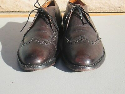 Rare 1940S Swing Jazz Era Nunn Bush 10.5 C Oxblood Ankle Fashioned Dress Shoes.