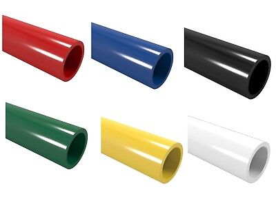 Coloured PVC Pipe 1m Furniture Grade: Blue Red Black Green Yellow White 26.7mm