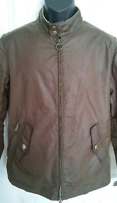 Barbour International Steve McQueen Men's Waxed Cotton Windcheater Jacket Sz M