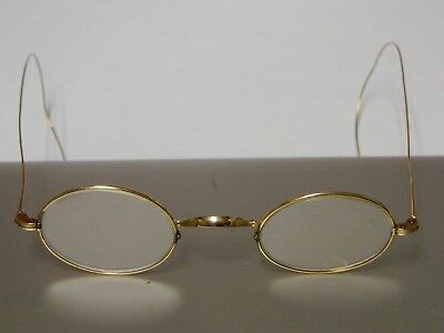 Antique 14 K Solid GOLD RIM Eye Glasses w/ CASE -