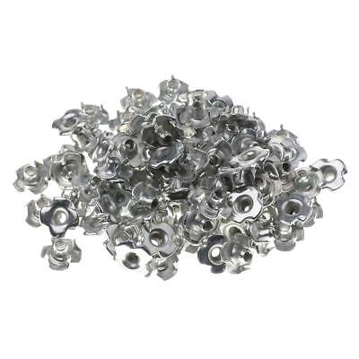 100pcs Climbing Holds Screw Nut Replacement Indoor Outdoor Wall Silver M4x7