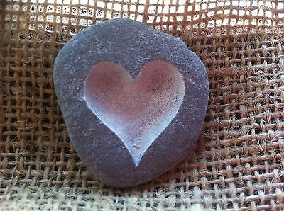 Cornish Love pebble, Carved by hand all unique, wedding anniversary gift present