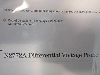 Agilent N2772A Differential Voltage Probe User's Guide