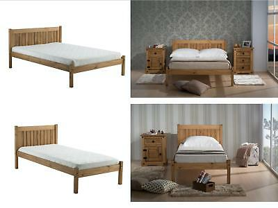 Birlea Rio Wooden Bed - 3ft Single, 4ft Small Double , 4ft6 Double - Waxed Pine