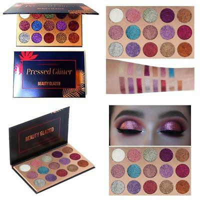 Beauty Glazed Eyeshadow Palette Ultra Pigmented Mineral Pressed Glitter Make Up